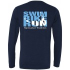 Next Level Tri Blend Nantucket Triathlon Swim, Bike, Run Long Sleeve T-Shirt